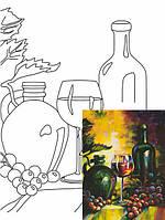 Холст на картоне с контуром, Натюрморт № 22, 30x40, хл., акрил.гр., Этюд
