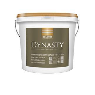 Шелковисто-матовая краска для стен и потолка  Dynasty Kolorit 2,7л