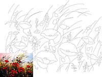 Холст на картоне с контуром, Пейзаж № 9, 30x40, хл., акрил.гр., Этюд