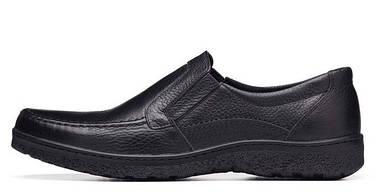 Мужские туфли кожаные черные BASTION 004ф