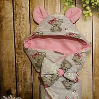 Конверт с  капюшоном для девочек  весна/лето/осень, фото 1