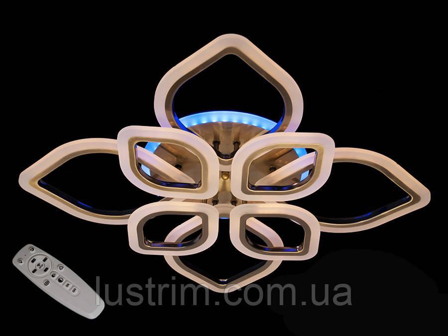 Потолочная LED-люстра с диммером и подсветкой, 110W