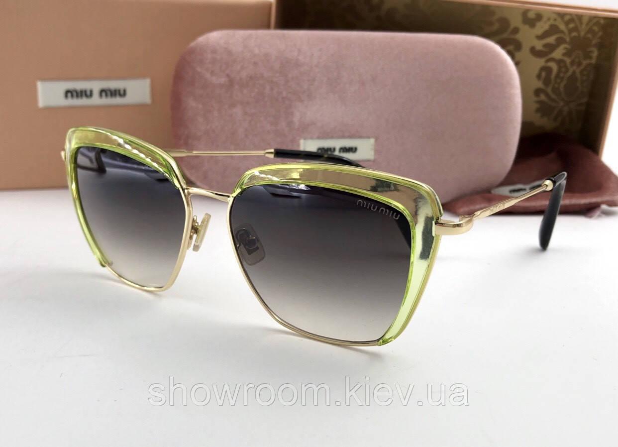 Солнцезащитные очки в стиле Miu Miu (smu 52) green