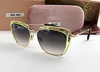 Солнцезащитные очки в стиле Miu Miu (smu 52) green, фото 1