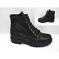 Полуботинки  женские кожаные  черные Jemma Black , весна/осень, размер 36-41