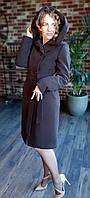 Пальто зимнее с капюшоном, Vladlen. Модель 2002040, фото 1
