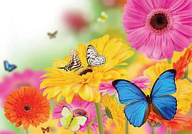 """Пакет для подарка гигант горизонтальный """"Бабочки на цветах"""" 46 х 33 см  (6 шт/уп)"""