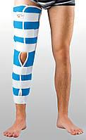 Жесткая шина для ноги с 4-мя металлическими ребрами жесткости ТУТОР-Н Reabilitimed Размер S 30-35 см