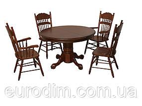 Стол обеденный HNDT-4872SWC темный орех, фото 2
