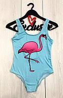 Женский купальник с фламинго