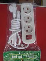 Удлинитель с выключателем RLFR-3m/  10A*3M*3 розеток (60 шт)