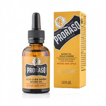 Масло для бороды Proraso Beard Oil Wood & Spice 30мл