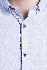 Сорочка чоловіча блакитна візерункова Medicine L, фото 2