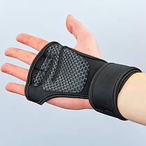 Рукавички (накладки) для підняття ваги UNDER ARMOUR ВС-9992-BK (PVC, PL, еластан,відкриті пальці), фото 2