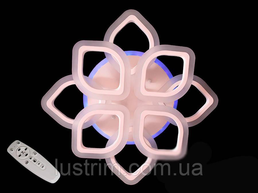 Потолочная LED-люстра с диммером и подсветкой, 80W