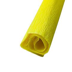Гофрированная (креп) бумага для творчества, желтая