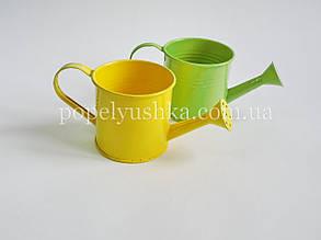 Лійка декоративна жовта і салатова
