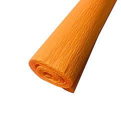 Гофрированная (креп) бумага для творчества, светло оранжевая