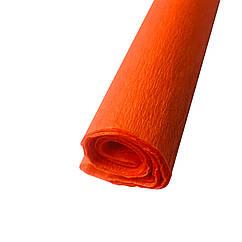 Гофрированная (креп) бумага для творчества, оранжевая