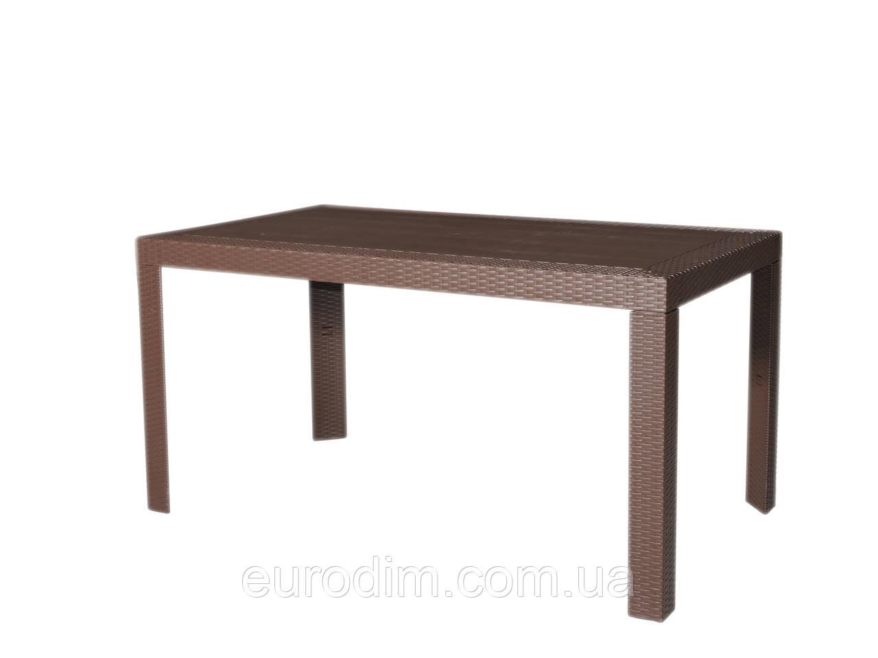 Стол OW-T209S прямоугольный коричневый