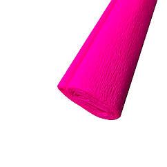Гофрированная (креп) бумага для творчества, розовая