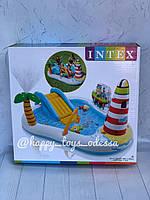 Бассейн надувной игровой центр Intex «Веселая Рыбалка» с надувной удочкой и две рыбы артикул 57162, фото 1