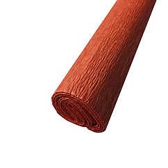 Гофрированная (креп) бумага для творчества, светло коричневая