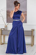 """Нарядный женский комбинезон """"ЖАСМИН"""" с расклешенными брюками (5 цветов), фото 3"""
