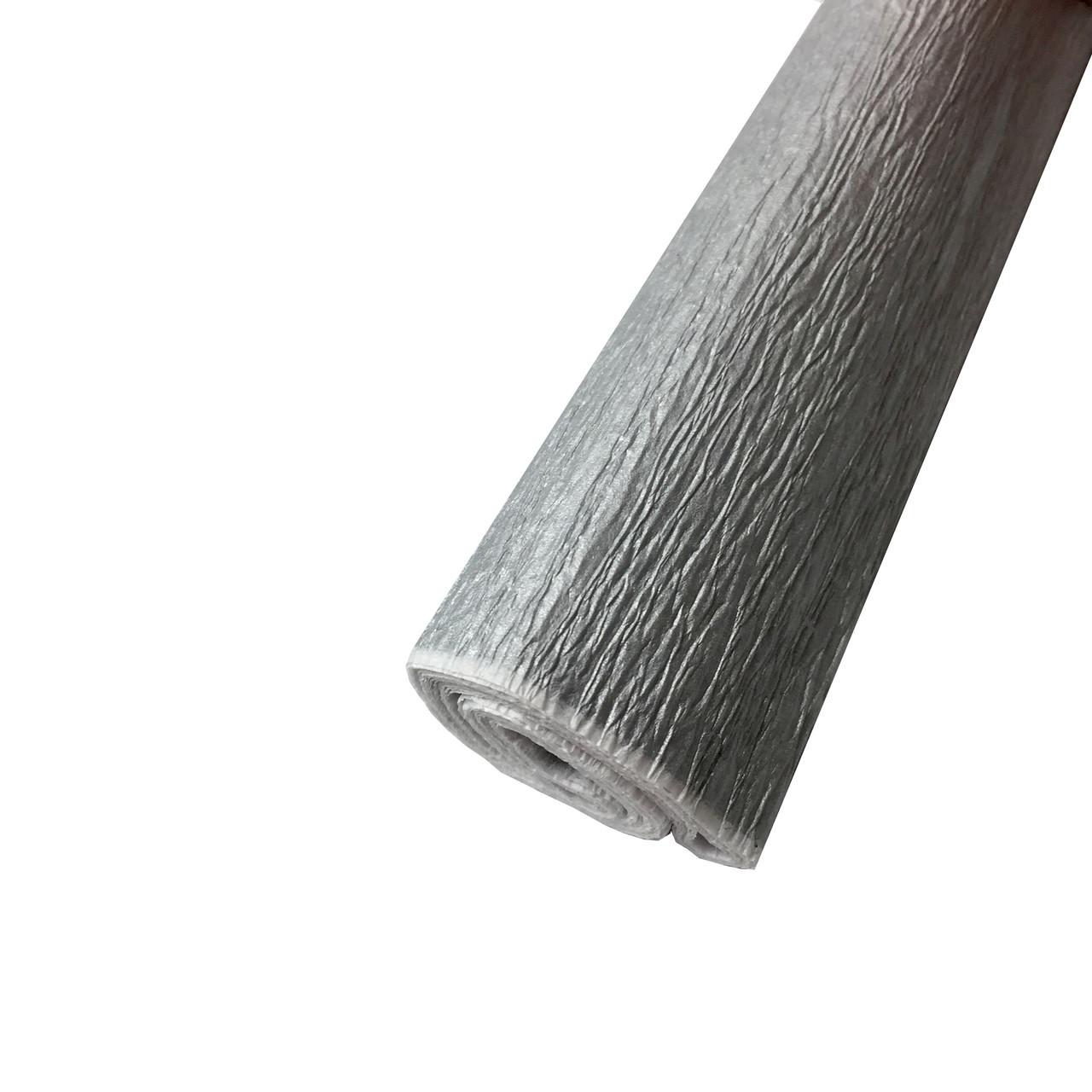 Гофрированная (креп) бумага для творчества, серебро