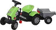 "*Каталка-трактор с педалями ""Turbo-2"" с полуприцепом арт. 52742"