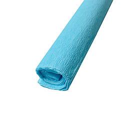 Гофрированная (креп) бумага для творчества, нежно-голубая