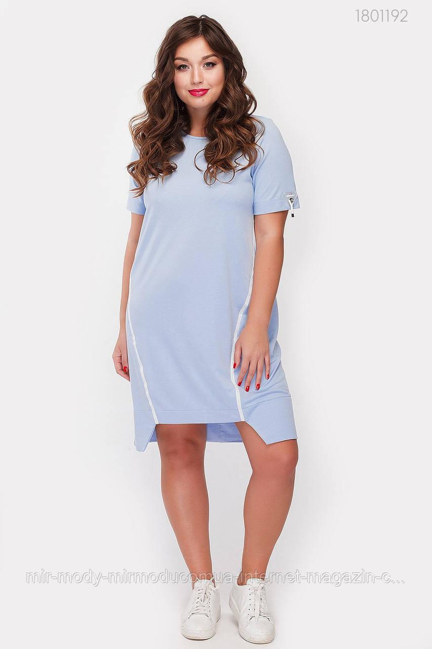 Платье Натал (голубой)(3 цвета) с  48 по 54 размер (рин)