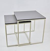 Комплект столов журнальных Куб 400 и Куб 450 - Элегантный серый (Loft Cub gray-gray), фото 1