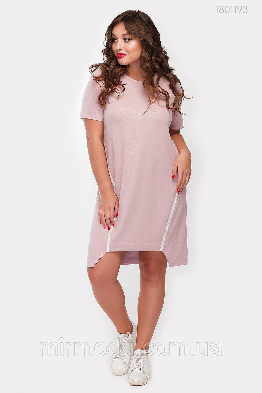 Платье Натал (пудра)(3 цвета) с  48 по 54 размер (рин)