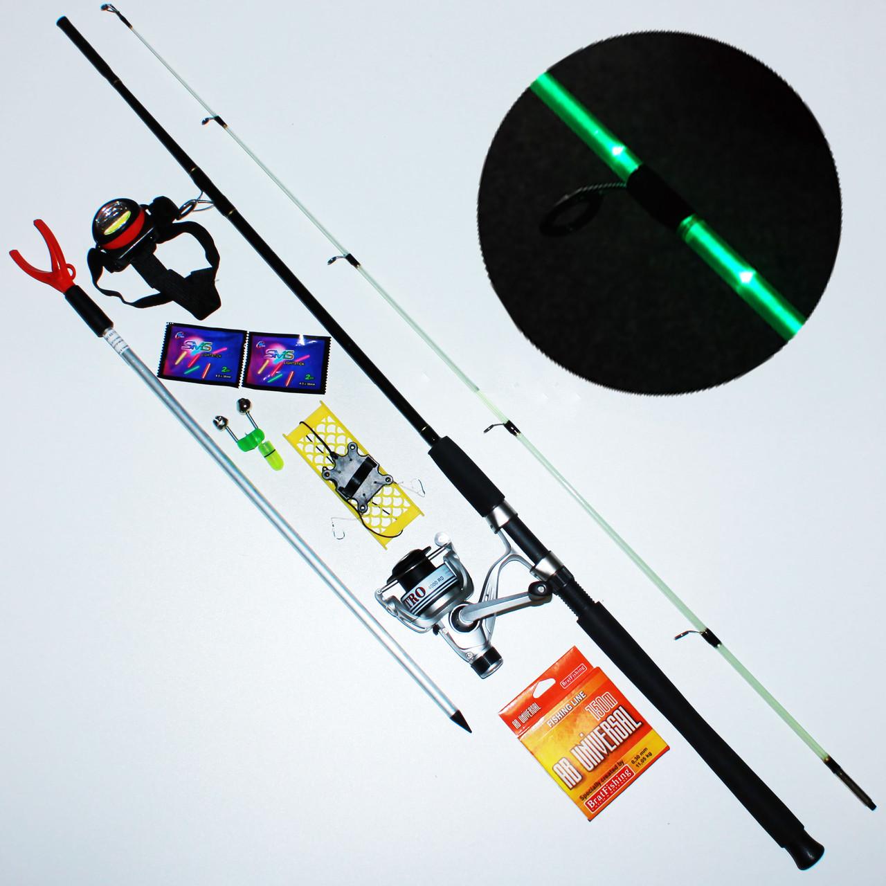 """Спиннинг Карповый"""" набор для ночной рыбалки"""" (спиннинг с подсветкой)"""