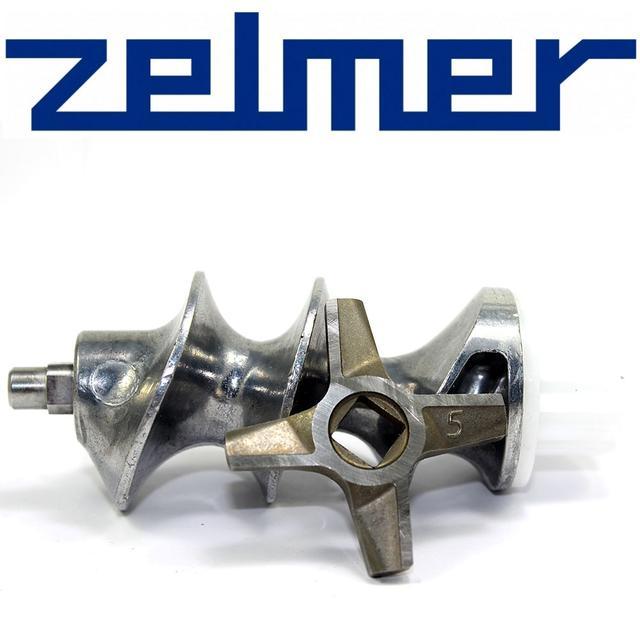 Шнек для мясорубки Zelmer NR5 для двухстороннего ножа в комплекте с ножом