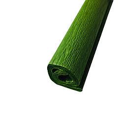 Гофрированная (креп) бумага для творчества, оливковая
