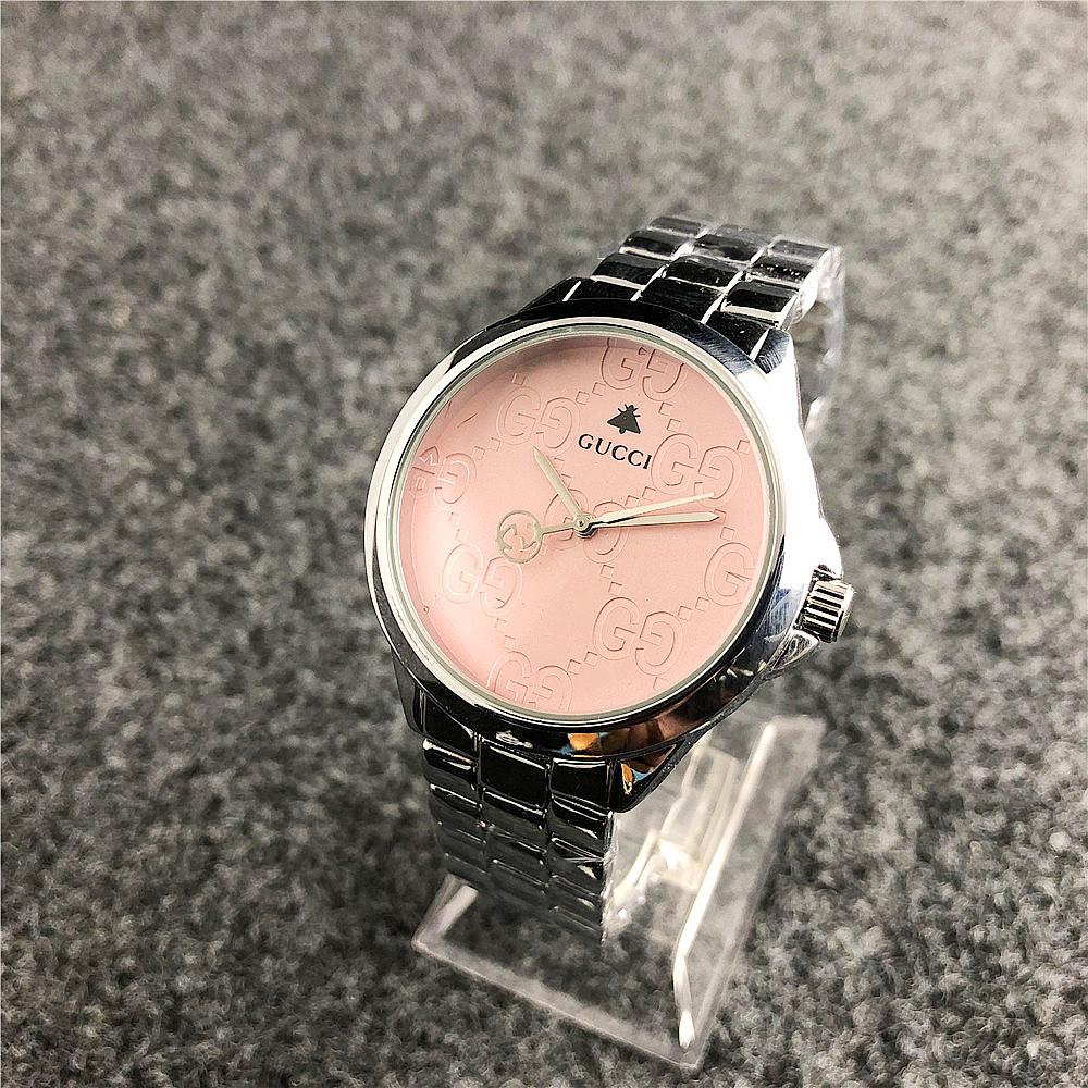 Наручные женские часы Gucci 7161 GFS Silver Pink