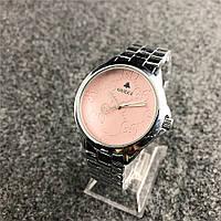 Наручные женские часы Gucci 7161 GFS Silver Pink, фото 1