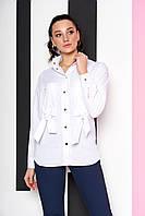Красивая женская рубашка в белом цвете А-145 размеры 44-54, фото 1