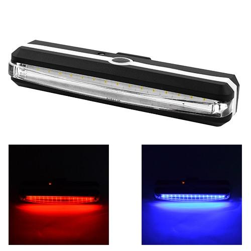Ліхтар велосипедний RPL-2266-COB (червоний + синій) аккум, ЗП micro USB