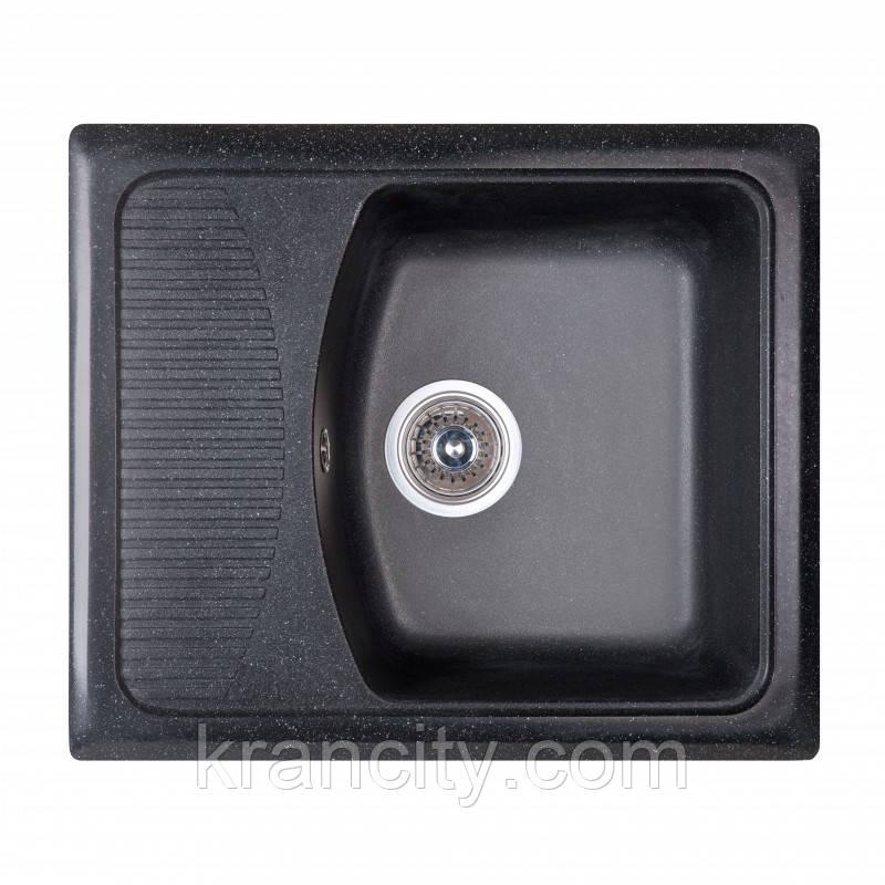 Кухонная мойка гранитная Fosto SGA-420, размер 58x50 , цвет черный