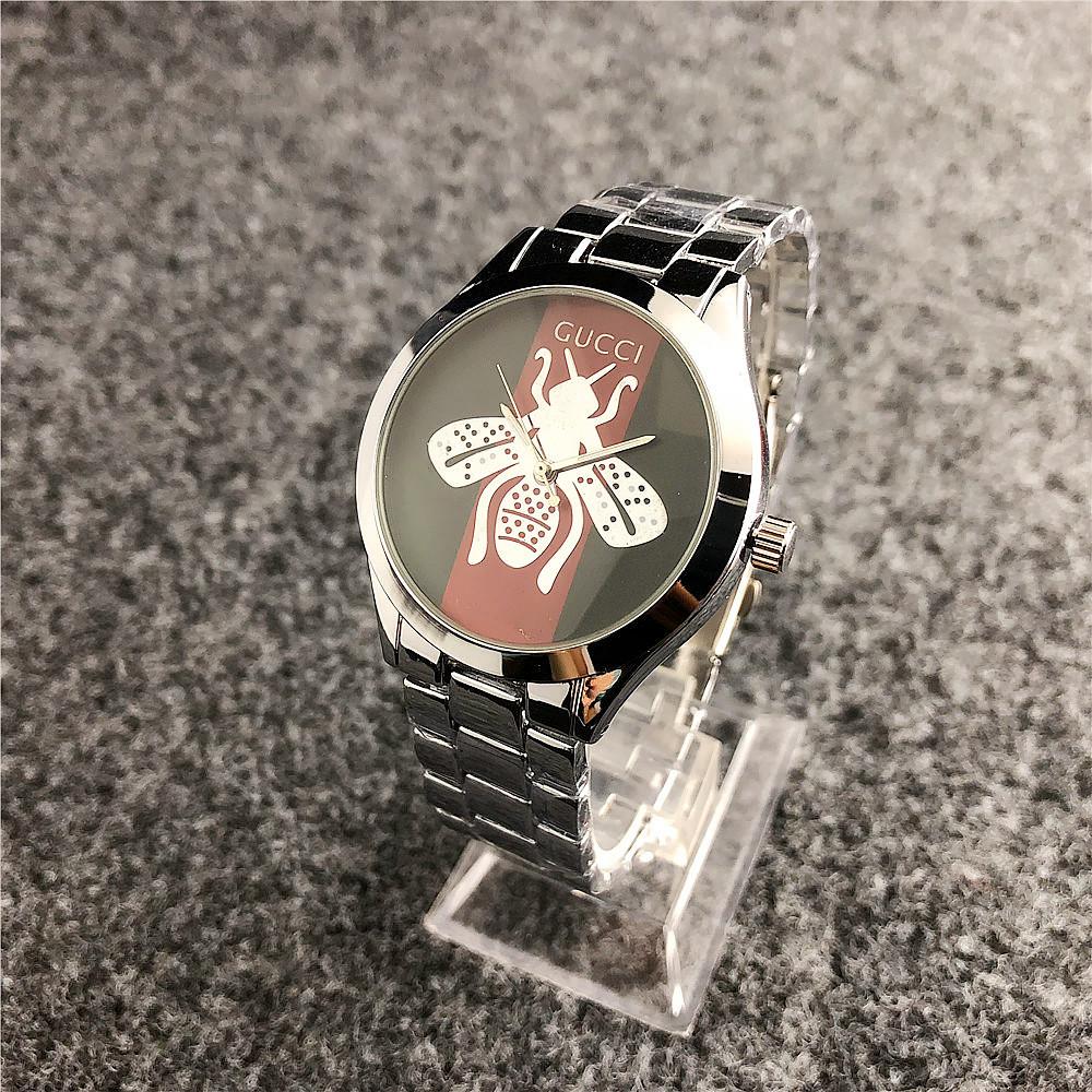 Наручные женские часы Gucci 6239 Silver-Green-Red