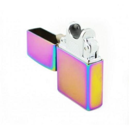 Зажигалка электроимпульсная в стиле Zippo microUSB Jinlun 215 хамелеон