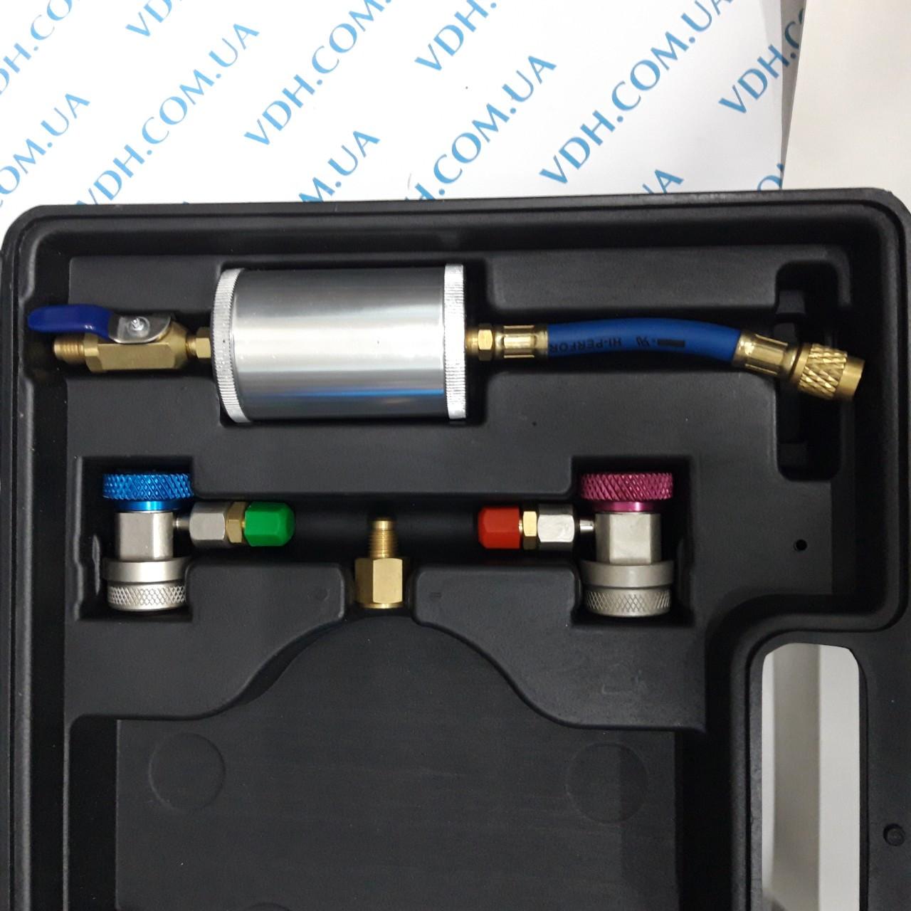 Манометрический коллектор 4х вентильный в наборе ( 4шланга, 2 автомуфты,краны 339 и 338, масл. инжектор) - фото 5