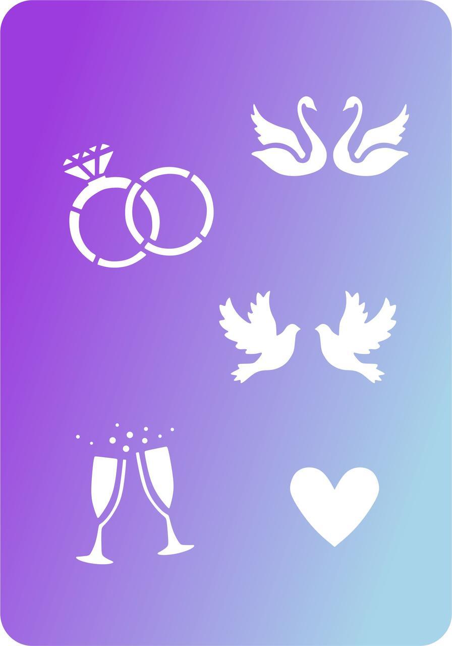 Трафарет Свадебные символы №2