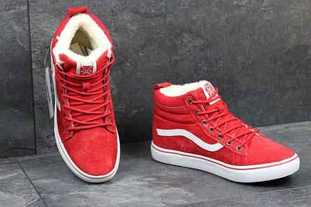 d9af5b55 Женские зимние кеды Vans красные 3629 купить в интернет-магазине ...