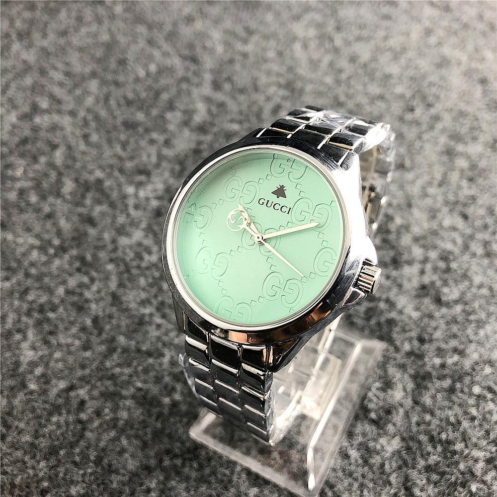 c778c512 Наручные Женские Часы Gucci 7161 GFS Silver Green — в Категории ...