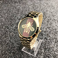 Наручные женские часы Gucci 6239 Gold-Green-Red, фото 1