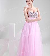 Нежное  платье с камнями, фото 1